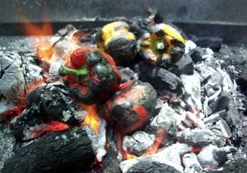 charred bell peppers